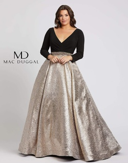 Queenly size 24 Mac Duggal Gold Ball gown evening gown/formal dress