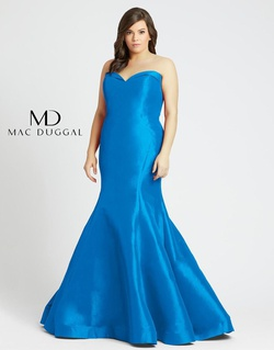 Queenly size 14 Mac Duggal Blue Mermaid evening gown/formal dress