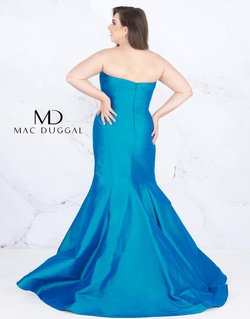 Style 67606F Mac Duggal Blue Size 24 Prom Plus Size Mermaid Dress on Queenly