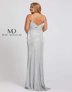 Style 49049F Mac Duggal Silver Size 22 Pageant Plus Size Side slit Dress on Queenly