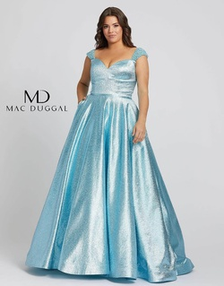 Queenly size 28 Mac Duggal Blue A-line evening gown/formal dress