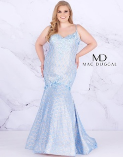 Queenly size 26 Mac Duggal Blue Mermaid evening gown/formal dress