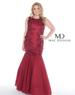 Style wardrobe-1607735488108 Mac Duggal Red Size 30 Burgundy Prom Plus Size Mermaid Dress on Queenly