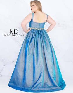 Style 66817F Mac Duggal Blue Size 16 Overskirt Ball gown on Queenly