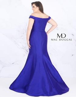 Style 66803F Mac Duggal Purple Size 18 Plus Size Silk Mermaid Dress on Queenly