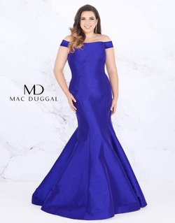 Queenly size 18 Mac Duggal Purple Mermaid evening gown/formal dress