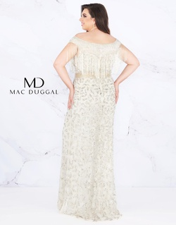 Style 4852F Mac Duggal Silver Size 24 Prom Plus Size Sequin Straight Dress on Queenly
