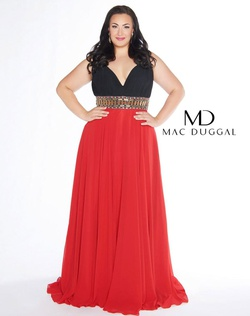 Queenly size 28 Mac Duggal Red Straight evening gown/formal dress
