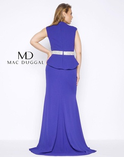 Style 85520F Mac Duggal Purple Size 18 Prom Plus Size Side slit Dress on Queenly