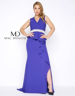 Queenly size 18 Mac Duggal Purple Side slit evening gown/formal dress