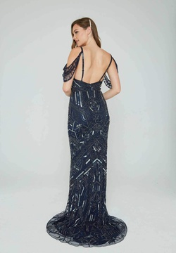 Style 153 Aleta Blue Size 00 Straight Dress on Queenly