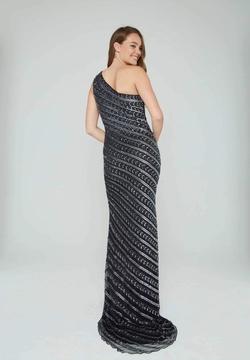 Style 158 Aleta Black Size 14 Plus Size Side slit Dress on Queenly