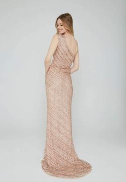 Style 158 Aleta Rose Gold Size 2 One Shoulder Side slit Dress on Queenly