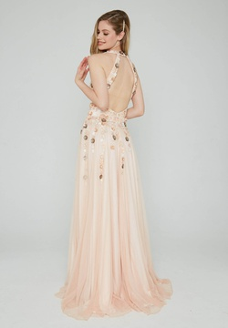 Style 190 Aleta Pink Size 2 Prom Tall Height A-line Dress on Queenly