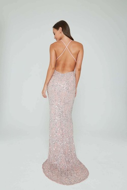 Style 274 Aleta Pink Size 10 Tall Height Straight Dress on Queenly