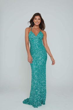 Style 275 Aleta Green Size 00 Prom Straight Dress on Queenly