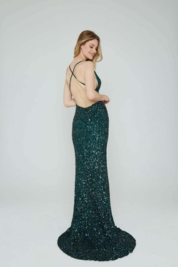 Style 275 Aleta Green Size 4 Tall Height Straight Dress on Queenly