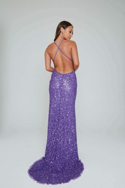 Style 275 Aleta Purple Size 2 Tall Height Straight Dress on Queenly