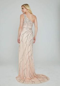 Style 316 Aleta Light Pink Size 16 Side slit Dress on Queenly