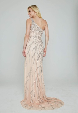 Style 316 Aleta Pink Size 18 Tall Height One Shoulder Side slit Dress on Queenly