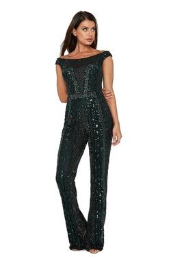 Queenly size 8 Aleta Multicolor Romper/Jumpsuit evening gown/formal dress