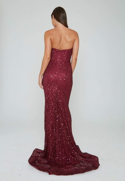 Style 391 Aleta Red Size 4 Prom Sweetheart Tall Height Mermaid Dress on Queenly