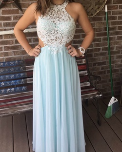 Queenly size 4  Blue Straight evening gown/formal dress