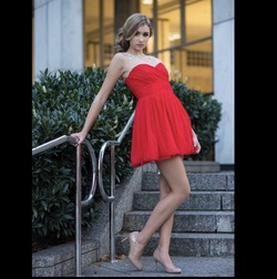city triangles Red Size 2 Sorority Formal Cocktail Dress on Queenly