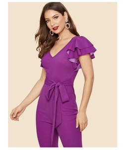 Queenly size 0  Purple Jumpsuit evening gown/formal dress