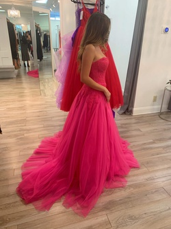 Sherri Hill Hot Pink Size 4 Prom Train Dress on Queenly