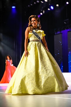 Mac Duggal Yellow Size 4 Custom Two Piece Ruffles Ball gown on Queenly