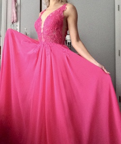 Queenly size 2 Camille La Vie Pink Straight evening gown/formal dress