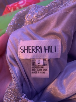 Sherri Hill Silver Size 0 Pageant Short Height Halter A-line Dress on Queenly