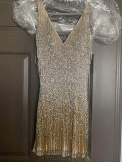 Queenly size 4  Gold Cocktail evening gown/formal dress