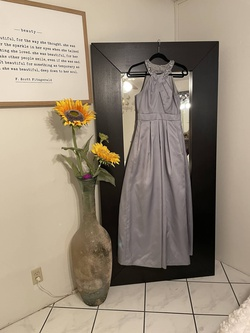 Eliza Silver Size 4 Tall Height Pockets Ball gown on Queenly