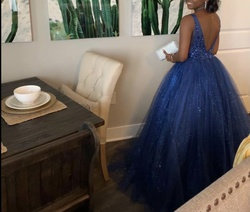Bicici coty Blue Size 4 Short Height Ball gown on Queenly