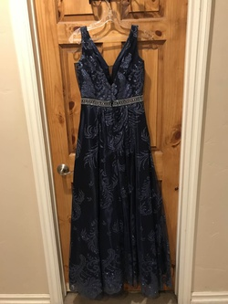 Cachet Blue Size 4 Ball gown on Queenly