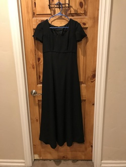Queenly size 4  Black Straight evening gown/formal dress
