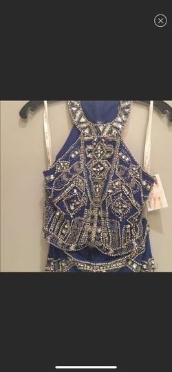 Rachel Allan Blue Size 8 A-line Dress on Queenly