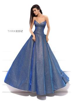 Tarik Ediz Blue Size 2 Pageant Ball gown on Queenly