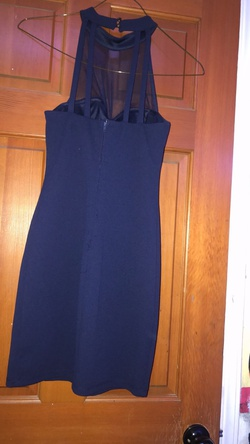 speechless Blue Size 6 Sorority Formal Sheer Wedding Guest Cocktail Dress on Queenly