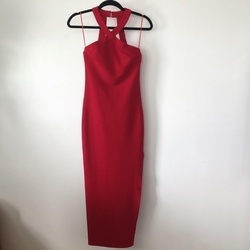 L'ATISTE by Amy Long Red Size 0 Side slit Dress on Queenly