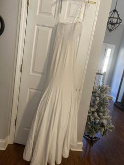 Ritzee White Size 2 Wedding Prom Belt Mermaid Dress on Queenly