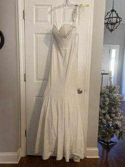 Queenly size 2 Ritzee White Mermaid evening gown/formal dress