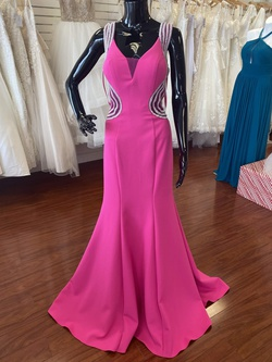 Jolene Pink Size 6 Sheer Mermaid Dress on Queenly