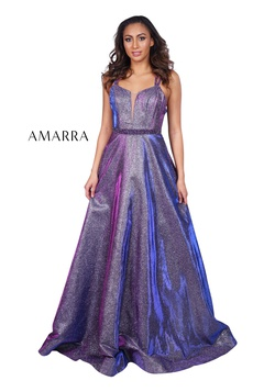 Queenly size 0  Purple A-line evening gown/formal dress