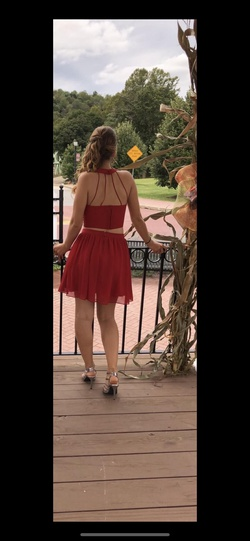 B. Darlin Red Size 4 A-line Dress on Queenly