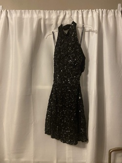 Sherri Hill Black Size 6 Prom Cocktail A-line Dress on Queenly