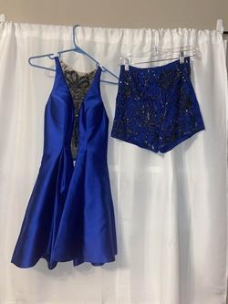Rachel Allan Blue Size 4 Jumpsuit Dress on Queenly
