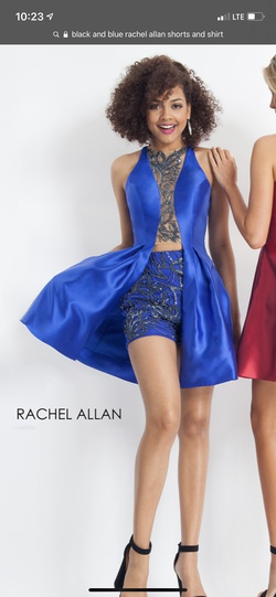 Queenly size 4 Rachel Allan Blue Jumpsuit evening gown/formal dress